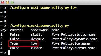 Configuring ESXi Power Management Policy Using the CLI