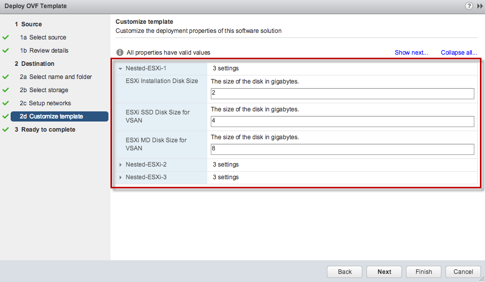 OVF template for creating Nested ESXi 3 or 32 node VSAN Cluster ...